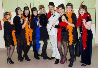 Le hostess della serata e , in basso, la vincitrice Melissa Donno