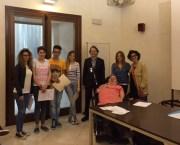 """Chiara Mazzarella, Chiara Zecca Federico Lezzi e Benedetta Rollo Della terza B liceo scientifico """"Galilei"""" di Nardò"""