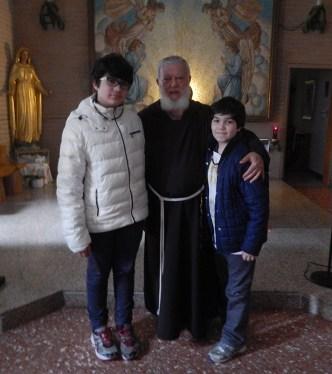 Michele con Padre Guglielmo Alimonti e suo fratello Angelo