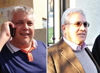 SINDACI D'ACCORDO Da sinistra l'attuale Primo cittadino Antonio Casarano e il suo predecessore Luigi Negro. Coinvolti nel progetto anche Aradeo e Neviano