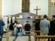 gli sposi appena giunti in chiesa