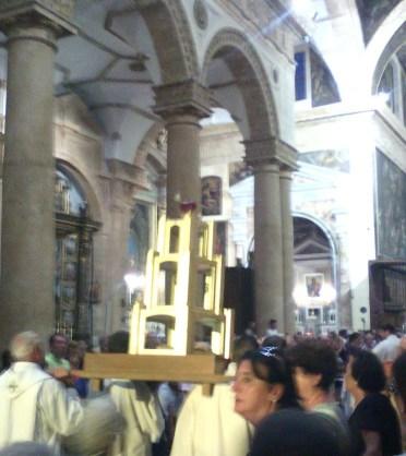 L'arrivo della reliquie in Cattedrale
