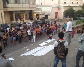 Una manifestazione di solidarietà pro braccianti a Nardò