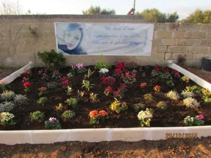 """Il """"giardino"""" dedicato a Valentina Pierri"""