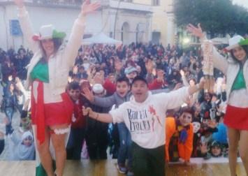 Nelle foto l'allegra festa in piazza Concordia