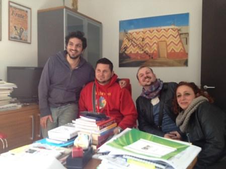 da sinistra Ferriccio Errico, Stefano Coppola, Alberto Greco e Francesca Fontò in redazione