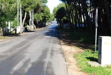 corso Cesare Vergine a Montegrappa (Tuglie), dov'è prevista una pista ciclabile