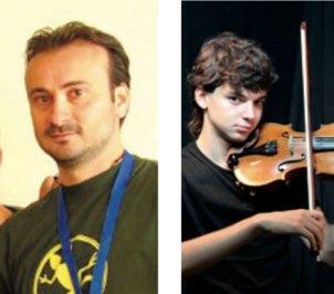 """Luca Sabato, presidente dell'Aido """"Cataldo"""", ed il giovane musicista Stefano Mhanna atteso per il concerto dell'11 dicembre."""