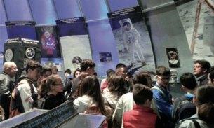 Studenti in visita all'interno del Parco astronomico San Lorenzo di contrada Manfio.