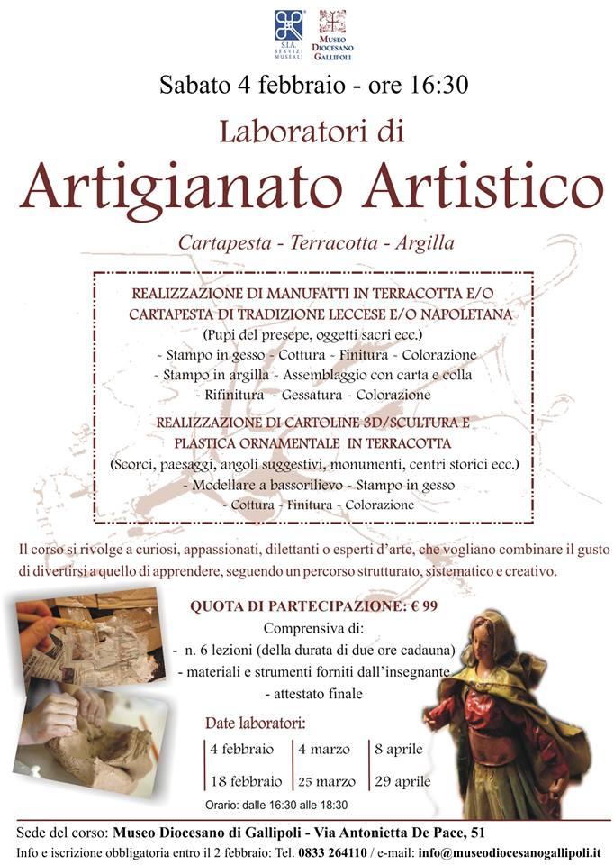 Corso Artigianato Artistico.Gallipoli Al Museo Corsi Di Artigianato Artistico