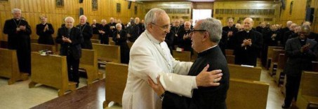 Monsignor De Donatis e Papa Bergoglio