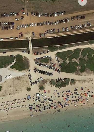 salve torre pali auto sulle dune