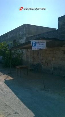 Porto Cesareo, l'area parcheggio sequestrata (1)