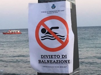 Leuca- il recente divieto di balneazione