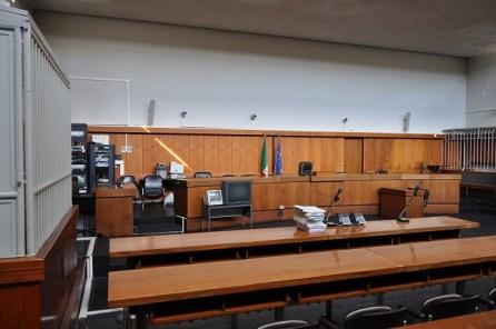 Lecce, aula tribunale