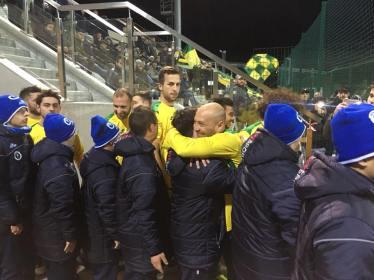 Chevanton con i ragazzi delle squadre Insuperabili di Parabita e Torino