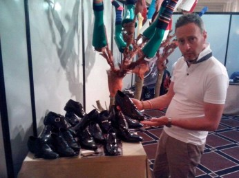 Andrea Pirelli esposizione calzature