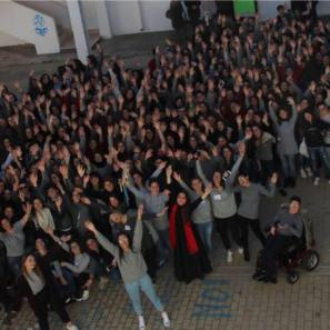Gli studenti dell'Iis Rita Levi Montalcini di Casarano