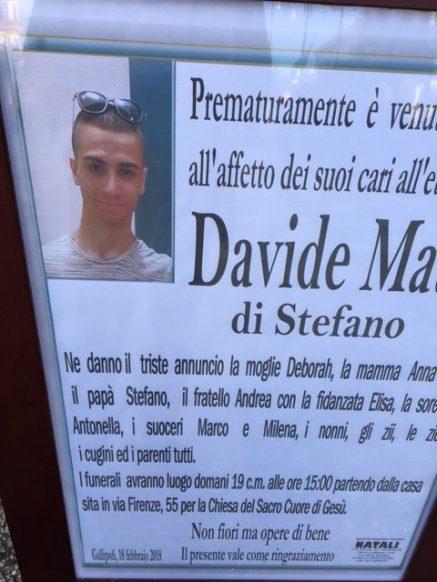 Davide Mauro gallipoli manifesto
