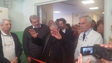 L'inaugurazione con il presidente Emiliano