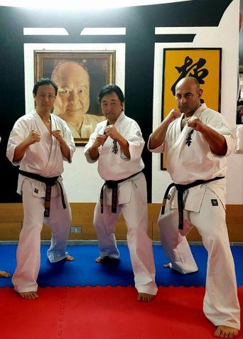 Shihan Ichiro Shibata, Shihan Tomoyuki Monma e Shihan Samuele Casto