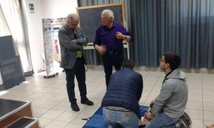 Il dottor Giacinto Pettinati in un corso
