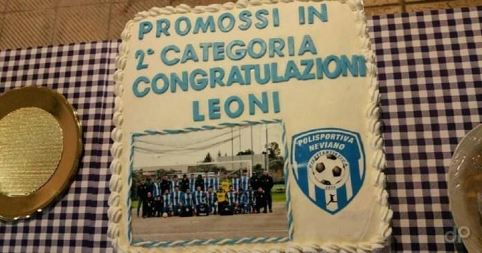 Polisportiva Neviano, la torta per la promozione