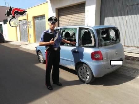 Ugento, l'auto danneggiata da Preite