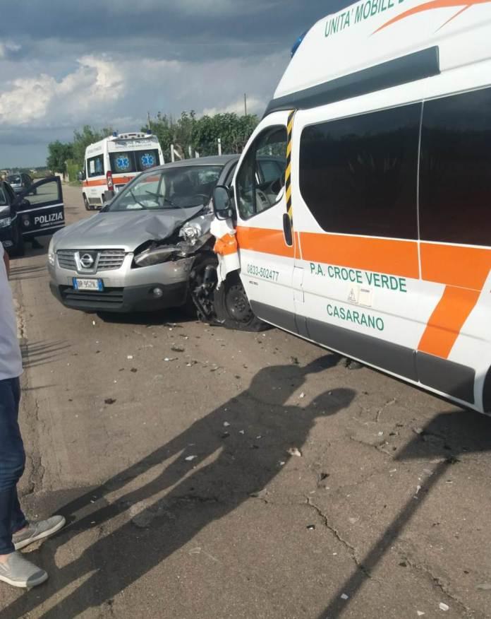 L'incidente sulla Casarano - Taviano