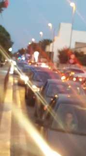 Traffico congestionato sulla litoranea
