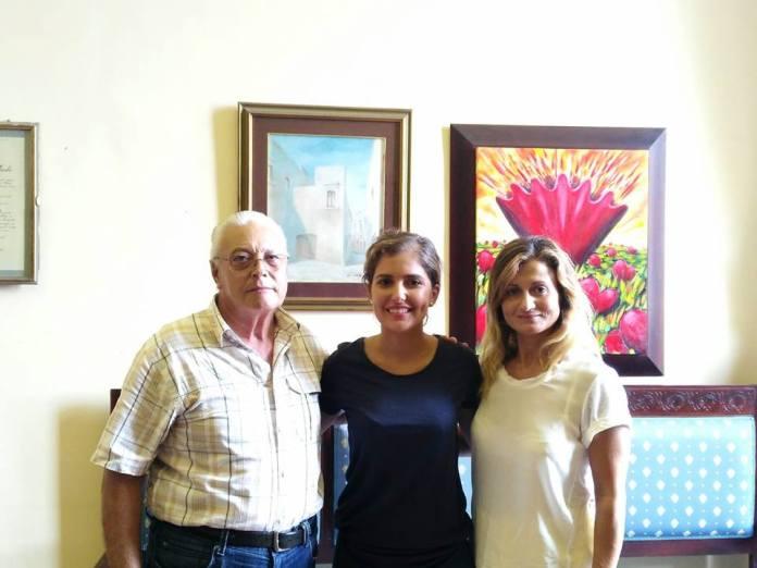 Da sinistra: Salvatore Durante, vicepresidente Assoimprese; l'assessore Giulia Puglia; Angela Simone, presidente Assoimprese