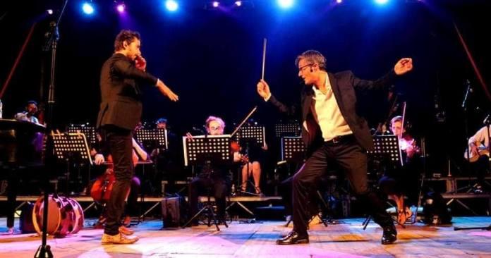 Leuca, Antonio ed Eliseo Castrignanò sul palco (foto Ilaria Reggio)