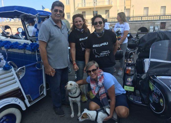 Alessia Giorgino e Letizia Campeggio, con Harley, il vicesindaco Venneri e la consigliera Fiore
