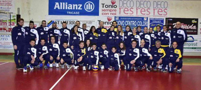 La squadra del Volley Melissano