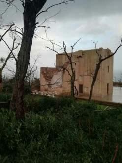 Il Santuario in parte crollato a Marina Serra