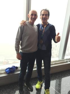 Pippi Cataldi con Orlando Pizzolato, due volte vincitore a New York