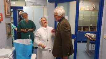 Michele Placido in visita all'ospedale Panico di Tricase (5)
