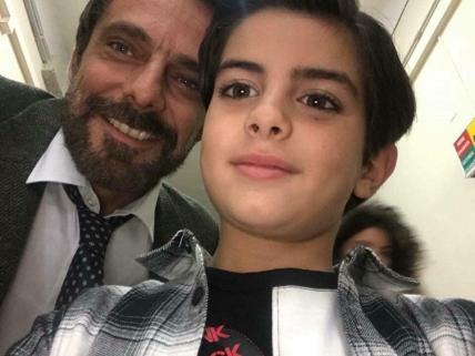 Samuele Carrino con Alessandro Preziosi
