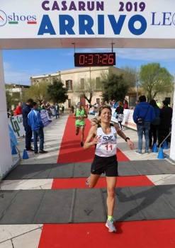 Stefania Scatigna prima alla Casarun 2019 (Actionphoto)