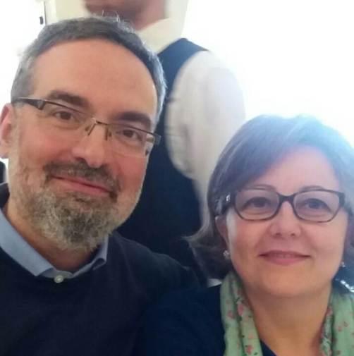 I coniugi Alessandro Ruberti e Giovanna Legittimo