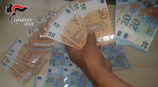 Soldi falsi, arresto a Minervino di Lecce