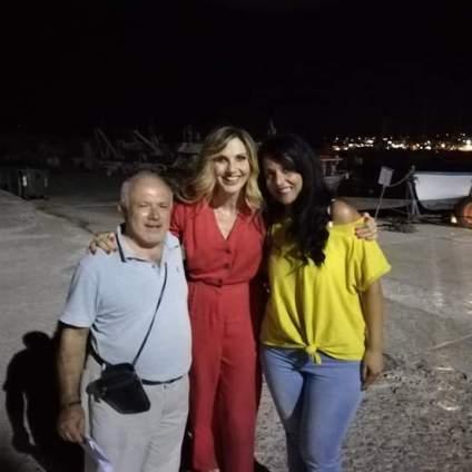 Lorella Cuccarini con i consiglieri comunali Leonardo Ferilli e Annalisa Marino