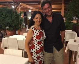Paolo Calissano con Teresa Cafiero (del ristorante Mimì)