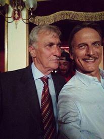 Paolo Fachechi e Cesare Bocci sul set