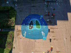 murales pIl murales di Gianle Lametà all'ex ospedale di Nardòssiamo scegliere_2