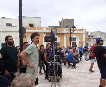 Il regista Edoardo Winspeare sul set