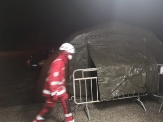 tenda croce rossa ospedale Gallipoli