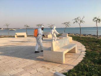 Porto Cesareo, sanificazione sul lungomare