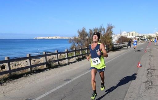 Davide in una maratona a Gallipoli
