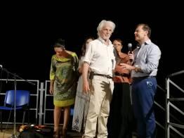 Michele Placido a Giuseppe Tanisi sul palco di Mancaversa